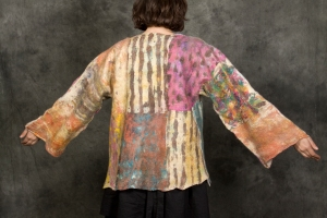 Seamless Felt Coat by Claudia Hoffberg 60x24in